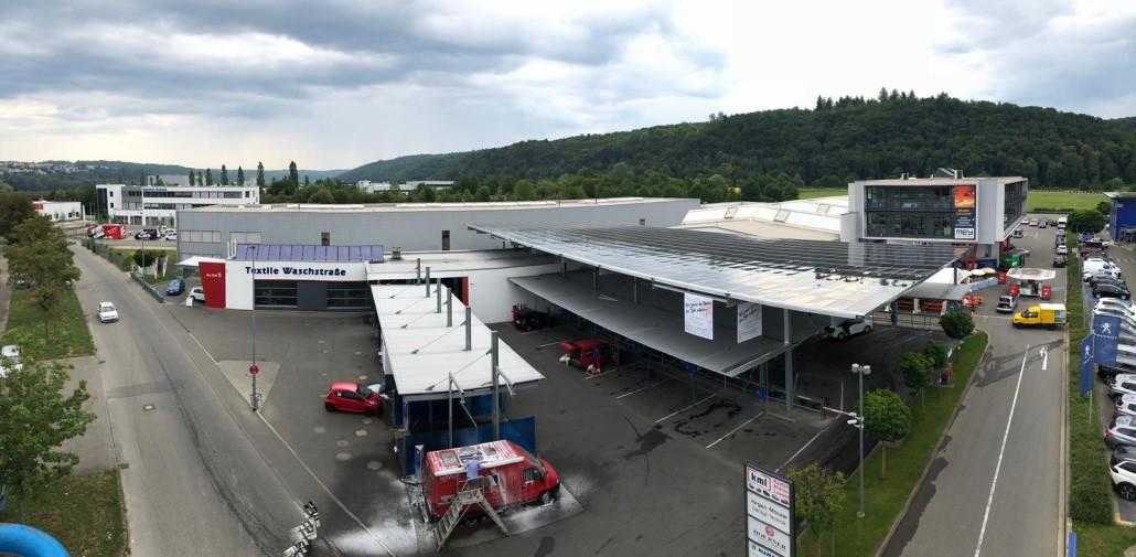 Solardach des Waschpark B27